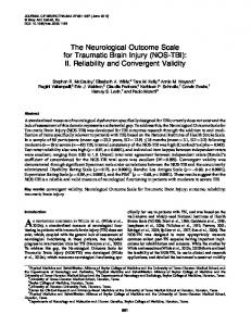 The Neurological Outcome Scale for Traumatic Brain Injury (NOS-TBI