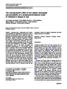 The neuroprotective effect of two statins: simvastatin and pravastatin ...