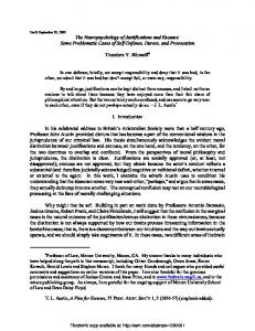 The Neuropsychology of Justifications and Excuses - SSRN papers