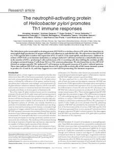 The neutrophil-activating protein of Helicobacter pylori promotes Th1 ...
