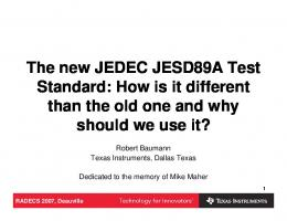 The new JEDEC JESD89A Test Standard: How is it ...