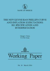 The New Keynesian Phillips Curve and Inflation Expectations
