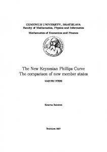 The New Keynesian Phillips Curve The comparison of new member ...