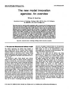 The new model innovation agencies: An overview - Oxford Journals