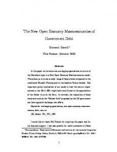 The New Open Economy Macroeconomics of ... - CiteSeer