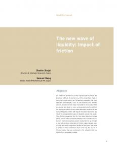 The new wave of liquidity: Impact of friction - SSRN papers