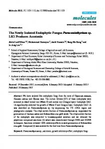 The Newly Isolated Endophytic Fungus ... - Semantic Scholar