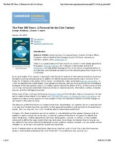The Next 100 Years_ A Forecast for the 21st Century