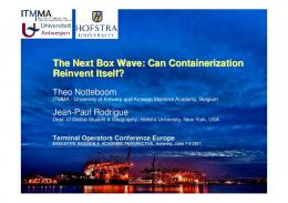The Next Box Wave: Can Containerization Reinvent ...