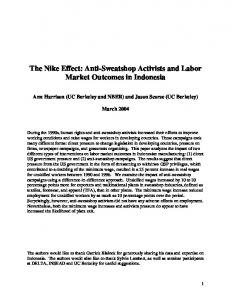 The Nike Effect: Anti-Sweatshop Activists and Labor Market Outcomes ...