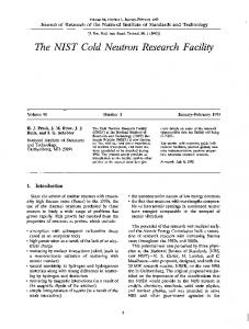The NIST Cold Neutron Research Facility - NIST Page