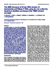 The NMR structure of 31mer RNA domain of ... - BioMedSearch