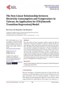 The Non-Linear Relationship between Electricity Consumption and