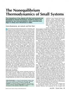The Nonequilibrium Thermodynamics of Small Systems - Research ...