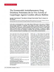 The Nonsteroidal Antiinflammatory Drug Diclofenac ...