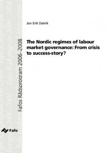 The Nordic regimes of labour market governance