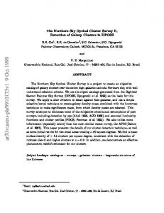 The Northern Sky Optical Cluster Survey I: Detection of Galaxy ...