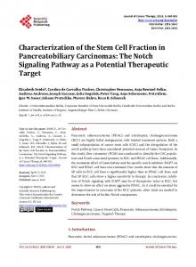 The Notch Signaling Pathway as a Potential Therapeuti - Scientific ...