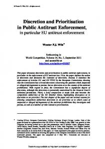 The Notification Procedures in EC Competition Law ... - SSRN papers