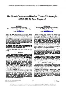 The Novel Contention Window Control Scheme for ...