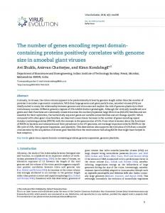 The number of genes encoding repeat domain ... - Oxford Journals