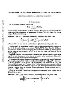 The number of Goldbach representations of an integer