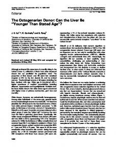The Octogenarian Donor: Can the Liver Be ... - Wiley Online Library