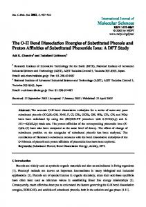 The OH Bond Dissociation Energies of Substituted Phenols and ...