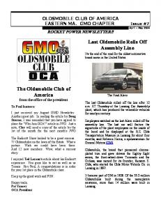 The Oldsmobile Club of America Last Oldsmobile Rolls Off ...