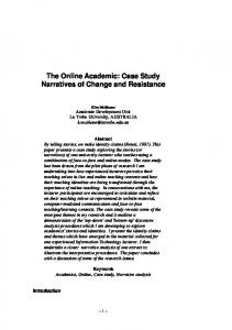 The Online Academic: Case Study Narratives of Change and ... - Ascilite