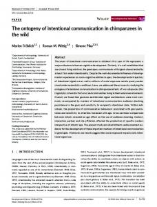 The ontogeny of intentional communication in chimpanzees in the wild
