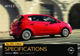 The OPEL CORSA SPECIFICATIONS