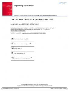 the optimal design of drainage systems