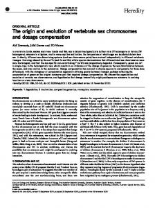 The origin and evolution of vertebrate sex chromosomes and ... - Nature