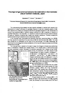 The origin of gas and mud-volcano-like sediments in