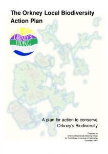 The Orkney Local Biodiversity Action Plan - Orkney Islands Council