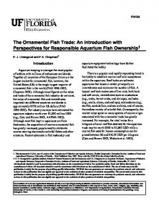 The Ornamental Fish Trade: An Introduction with ...