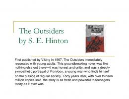 The Outsiders by S. E. Hinton y - UCF College of Education and ...