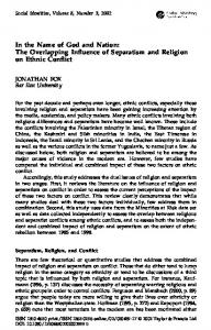 The Overlapping Influence of Separatism and Religion on Ethnic Conflict
