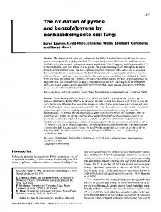 The oxidation of pyrene and benzo[a]pyrene by nonbasidiomycete soil ...