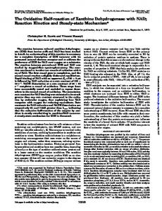 The Oxidative Half-reaction of Xanthine Dehydrogenase with NAD ...