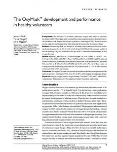 The OxyMask™ development and performance in healthy volunteers