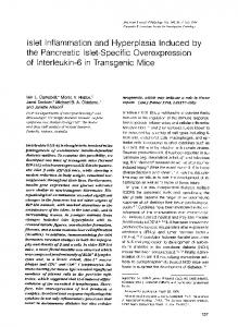 the Pancreatic Islet-Specific Overexpression - Europe PMC
