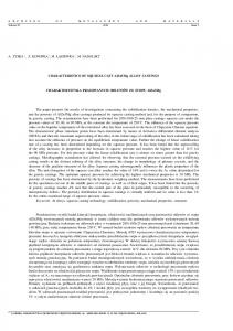 The paper presents the results of investigations concerning the
