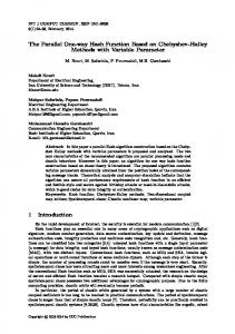 The Parallel One-way Hash Function Based on Chebyshev-Halley ...