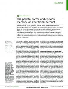 The parietal cortex and episodic memory: an attentional ... - CabezaLab
