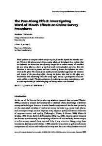 The Pass-Along Effect: Investigating Word-of ... - Wiley Online Library