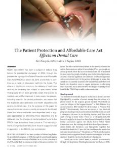 The Patient Protection and Affordable Care Act ... - Monroe College