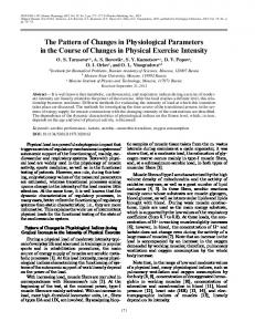The Pattern of Changes in Physiological Parameters in ... - Springer Link