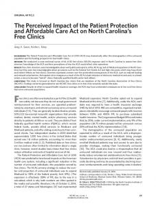 The Perceived Impact of the Patient Protection and Affordable Care ...